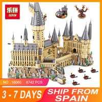 2018 educativos 16060 Harry magia Potter Hogwarts Castillo Compatible Legoing 71043 bloques de construcción ladrillos juguetes educativos para niños DIY
