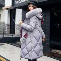 2018 nueva colección de invierno marca moda mujeres grueso invierno Bio abajo chaquetas mujeres con capucha Parkas abrigos tallas M 3XL