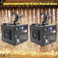 2 piezas etapa Dj efecto colgante chispa máquina de fuente de fuego chispa de riego de Caño chispa Headspout con abrazadera de fiesta de boda