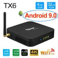 Tanix TX6 4 GB 32 GB Android 9,0 TV Box Allwinner H6 Quad Core USD3.0 Dual Wifi BT4.2 4 K google Player Youtube Smart Set Top Box