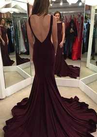 Vestido de graduación de satén elástico sirena Bateau corte tren con plisado vestido de fiesta talla grande vestidos de fiesta