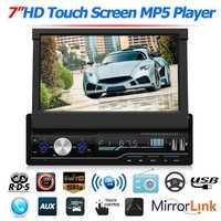 HD pantalla capacitiva T100 7 pulgadas coche vídeo Bluetooth manos libres coche estéreo MP5 reproductor RDS FM AM unidad auxiliar de Radio BT USB