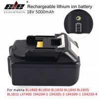 18 V 5000 mAh con indicador LED Li-Ion batería para Makita 18 V batería 5.0ah BL1860 BL1850 BL1830 BL1840 194205 -3 de herramienta de poder