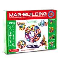 Modelo de construcción de bloques magnéticos de construcción de bloques mágicos Kit de modelos de plástico iluminar juguetes educativos para niños pequeños Constructor