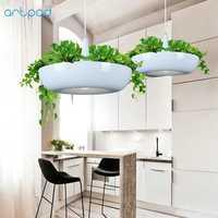 Artpad nórdicos Babylon planta colgante luz AC90-260v E27 LED Sala de jardín lámpara colgante comedor balcón iluminación