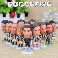 13 piezas + caja de fútbol Juventus jugador estrella Figura 2,5
