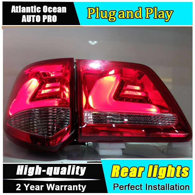FPO US $307.97 Car Styling for for Toyota Fortuner Taillights 2011-2015 FORTUNER LED Tail Lamp LED Rear Lamp Fog Light For 1Pair  4PCS