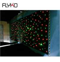 Vente chaude pas cher rideau étoilé LED 3 m x 6 m 16 pièces/sqm rvb couleur unique pour événement de mariage