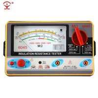 Probador de resistencia TY6045 100V-250V-500V-1000V medidor de resistencia de puntero de aislamiento probador de aislamiento analógico resistencia 0,5-2000 M