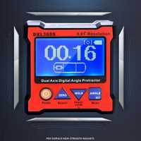 Doble eje Digital ángulo transportador con 5 lado Base magnética de indicador de nivel de 100-240 V 50-60 hz