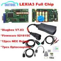 La Chips borde de oro Lexia3 PP2000 PSA XS evolución Diagbox V7.83 Lexia para Citroen/Peugeot Super Firmware referencia 921815C