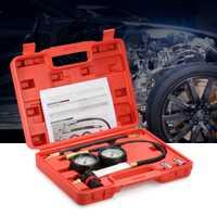 Auto probador de fugas del cilindro compresión fugas Kit motor de gasolina Gauge Tool Kit doble calibre con caja