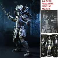 AVP muñeca cicatriz depredador MMS190 modelo de figuras de acción C 1/6 de escala móvil M18 Pre-pintado Alien VS depredador juguetes 32cm