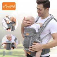 Tumama bebé mochilas para portátil plegable multifuncional bebé mochila lavable transpirable de la Honda del bebé a prueba de viento compañías aéreas para los niños