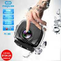 Magicsee P3 360 vistas panorámicas de la cámara del deporte Cámara cámaras de acción lente Dual 3040*1520 30fps 1500 mAh 30 m resistente al agua pro 16MP VR cámaras