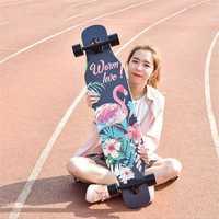 4 ruedas de arce completa Skate bailando Longboard cubierta cuesta abajo deriva carretera calle Skate tabla Tabla para jóvenes adultos