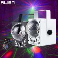 Alienígena LED RGB cristal bola mágica de discoteca con 60 patrones RG Proyector láser DJ fiesta de vacaciones Bar de Navidad iluminación de escenario efecto