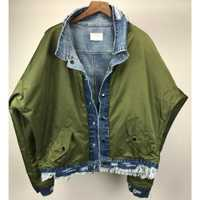 Reversible Raglan chaqueta de Denim Justin Bieber Oversize angustiante camionero chaqueta militar de bolsillo