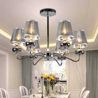 Candelabros de hierro de estilo italiano modernos con luz creativa minimalista para restaurante, cafetería, comedor, sala de estar, candelabros, iluminación