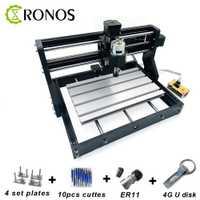 CNC 3018Pro + Machine de gravure de CNC hors ligne, fraiseuse de carte Pcb, routeur en bois, gravure Laser, contrôle GRBL de routeur de CNC, métal sculpté