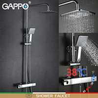 GAPPO bañera ducha grifo mezclador grifo baño termostato grifo cascada de montaje en pared ducha termostática de sistema de la ducha