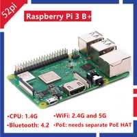 52Pi 2018 nuevo Original frambuesa Pi 3 Modelo B Plus RS Reino Unido hizo RPI 3B más 1,4 GHz 64bit CPU 1 GB RAM WiFi 2,4 GHz Bluetooth 4,2 PoE
