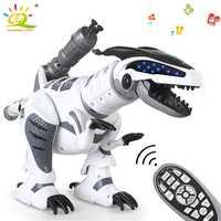 Jurassic World Brinquedos RC dinosaurio eléctrico canción de baile combate Robot eléctrico de Control remoto mascotas juguetes regalo para niños bebé
