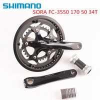 Shimano Sora 3550 170mm 50-34 T 2x9 avec support de pédalier 3500 BSA inclus