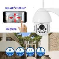 1080 P 2MP PTZ Cámara cámara IP WiFi impermeable al aire libre cámara inalámbrica IP seguridad de CCTV, vigilancia 5X Zoom de dos vías de Audio IP Camara