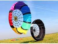 Nuevo soft kite araña mayoristas juguetes voladores grande nylon ripstop cometas de una sola línea adultos venta windsock kiting suave inflable