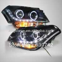 2008-2012 año para Kia Soul LED Ángel Ojos cabeza Lámparas con la lente del proyector