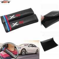 10 par/set cinturones cubiertas de fibra de carbono Auto relleno cinturón Car-Covers para bmw X1 X3 X5 x6 car styling