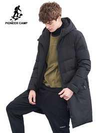 Campamento de pioneros de los hombres de invierno de chaqueta de marca de ropa gruesa cálida parka larga, los hombres calidad de hombre abrigo de invierno AMF801396