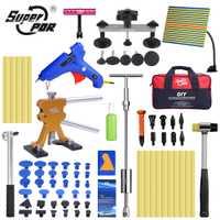 Super PDR herramientas Dent herramienta de reparación Auto herramientas Dent Puller ventosa sin pintura Dent Removal Kit Placa de línea herramientas de mano conjuntos