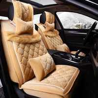 Nuevo asiento de coche lana Cojines felpa Esterillas automotriz asiento Sets, asiento de invierno, coche de estilo para el invierno