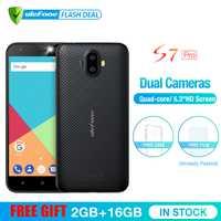 Ulefone S7 Pro 2 GB RAM + 16 GB ROM Double Caméra téléphone portable 5.0 pouces HD MTK6580 Quad Core Android 7.0 13MP Cam 3G WCDMA Téléphone Portable