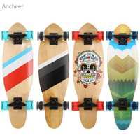 Madera niños y niñas desplegable tabla larga patineta completa Arce nuevo Cruiser Skateboard