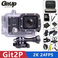 Original GitUP Git2P deportes Cámara de Acción 2 K Wifi Full HD 1080 P 30 M impermeable Cámara 1,5 pulgadas Novatek cámara profesional Git2 P 96660