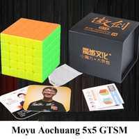 Nuevo MoYu Aochuang GTSM 5x5x5 magnético Stickerless cubo mágico velocidad cubo rompecabezas juguetes para los niños