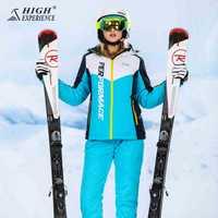 Alta experiencia Snowboard trajes de mujer chaqueta de invierno traje de esquí de las mujeres para mujer traje de deporte de invierno nieve chaquetas pantalones a prueba de agua caliente