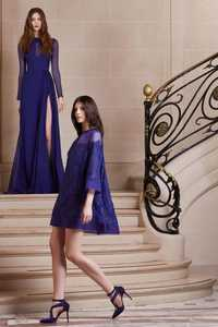Venta hote moda azul real vestido corto a line mini 3/4 de la gasa de la manga apliques con cuentas vestidos de fiesta