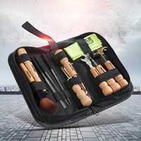 11 unids/pack guitarra herramientas de reparación/Kit (cepillo/cadena-winder/martillo etc.). instrumentos caso bolsas de piezas de guitarra Accesorios