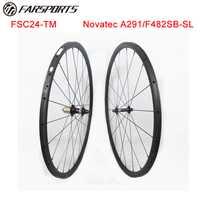 Novatec bicicleta Farsports 24mm profundo carbono ciclismo de carretera ruedas 20,5mm ancho con peso 1025 g/set personalizado aceptado