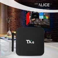 TX6 caja de TV inteligente Android 7,1 4G 32G Allwinner H6 Quad core 2,4g + 5g Dual wifi BT4.1 Set Top Box 4 K HD H.265 reproductor de medios pk x96