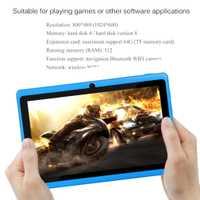 WIFI 7 pouces TFT écran bébé apprentissage Machine tablette bras Cortex A7 512 M + 8 GB Android 4.4.2 double caméra enfant ordinateur portable enfants