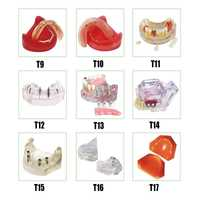 Dentadura completa modo implante Dental edéntulo Modelo de práctica de implantes con resina importada