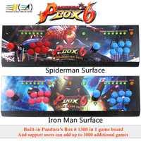Nueva caja de Pandora 6 1300 en 1 arcade kit de control joystick usb botones cero retraso 2 jugadores HDMI VGA arcade controlador de consola de TV