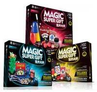 Super trucos de magia para niños con manual DVD magia close-up etapa mostrar Regalo de Cumpleaños creativo de los niños