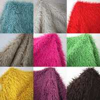 Buena calidad 5 cm pile tela de fieltro, 13 colores disponibles tela de retazos para coser, material de franela de algodón de piel, 100*150 cm