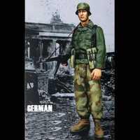 Crazy King1/16 soldado de resina modelo Segunda Guerra Mundial infantería Alemania Oriental envío spot gk mano para hacer molde blanco 216